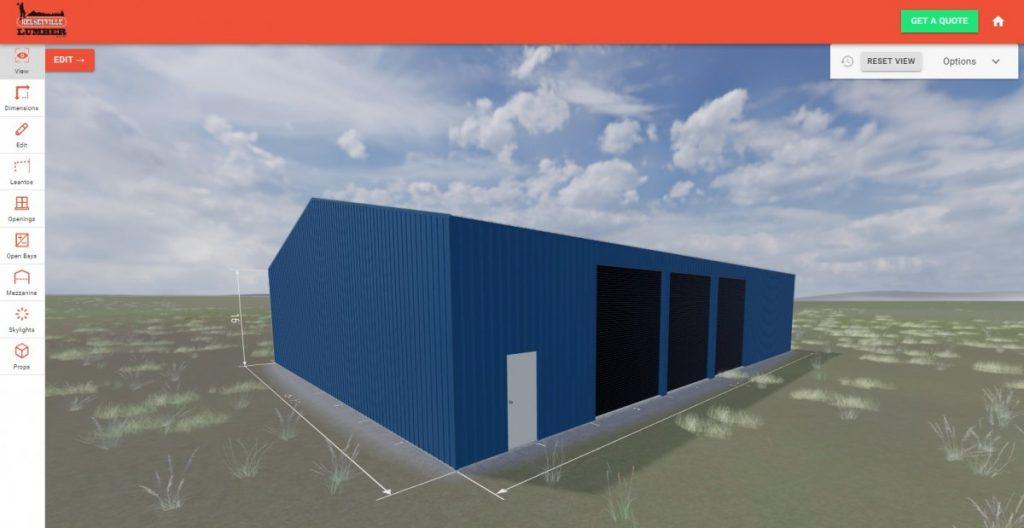Steel Building Online Designer